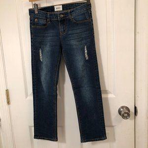Hudson Distressed Jeans Dark Blue Denim Girl's